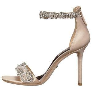 BADGLEY MISCHKA 'Fiorenza' Satin w Crystals Sandal